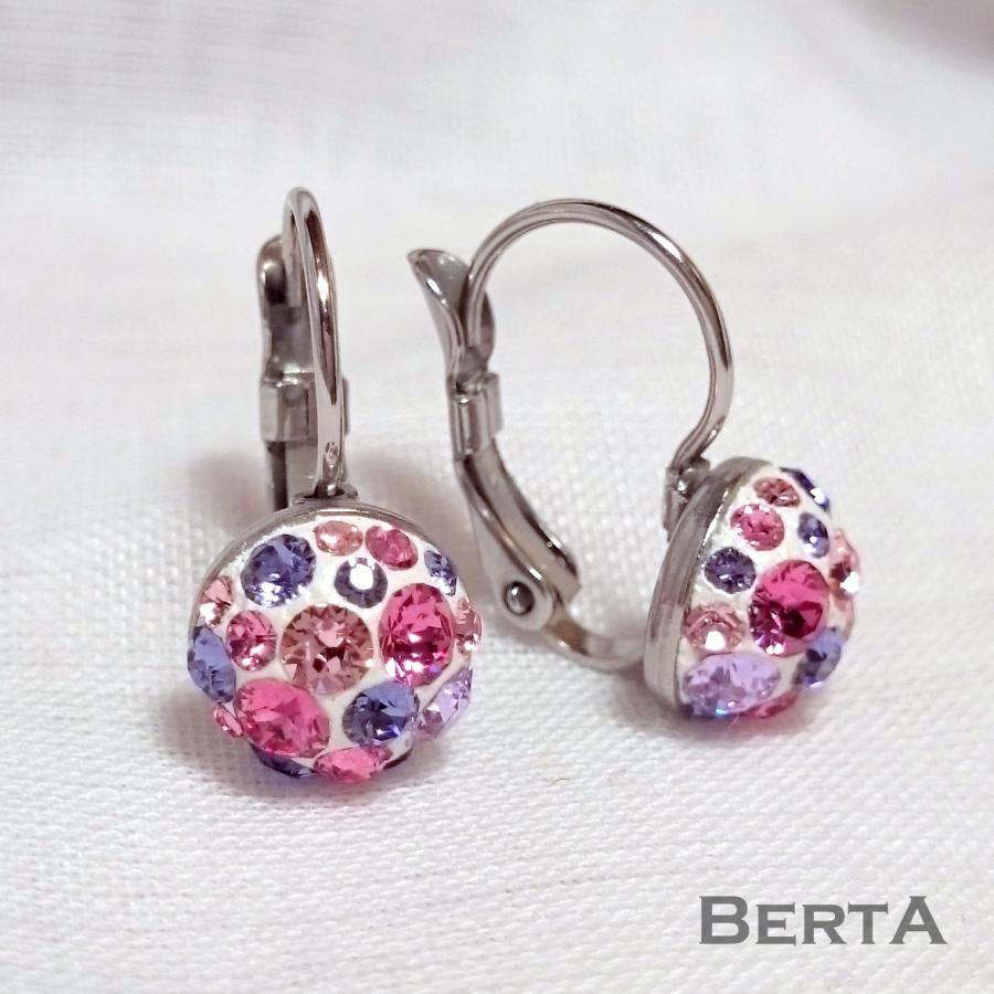 Lila-rózsaszín Fülbevaló