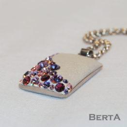 Darvel orvosi fém medál Swarovski ® kristályokkal