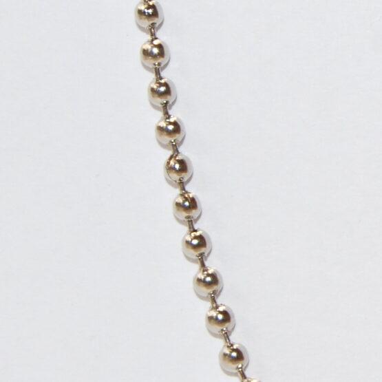 Nemesacél bogyós nyaklánc 2mm (Többféle méret)