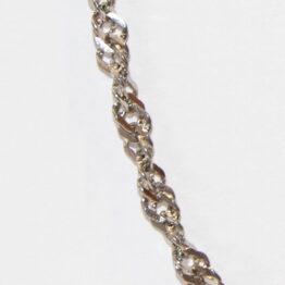 Nemesacél csavart nyaklánc (4mm) Többféle hosszúságban