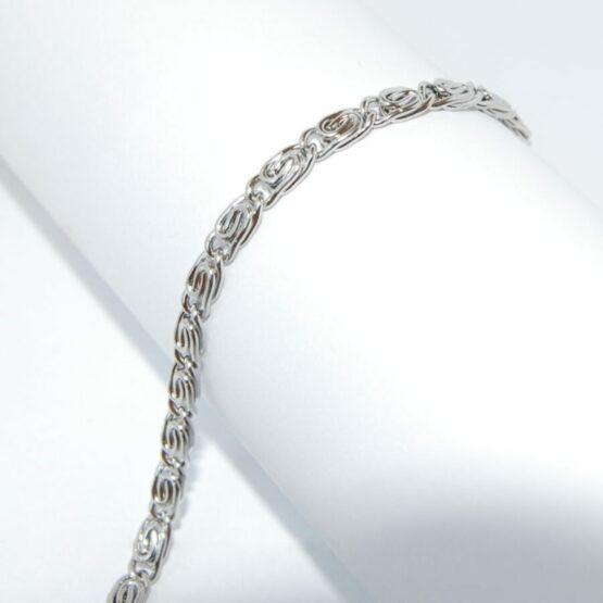 Nemesacél csavart mintás nyaklánc Swarovski kristályos medállal