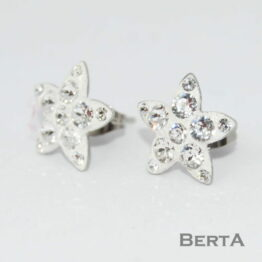 Csillag bedugós fülbevaló Swarovski kristályokkal