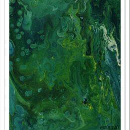 Tengeri moszatok modern akril festmény