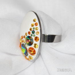 Zöldnarancs Ovális Gyűrű