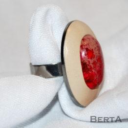Rózsaszín Erezett Jáspis Gyűrű