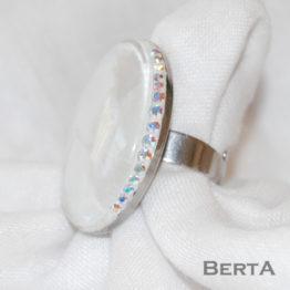 Liliana orvosi fém gyűrű Swarovski ® kristályokkal