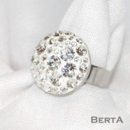 Léna nemesacél gyűrű Swarovski ® kristályokkal