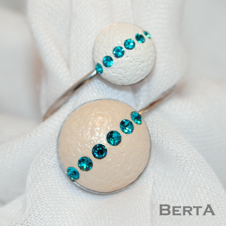 Bézs&Fehér Kékkel Gyűrű
