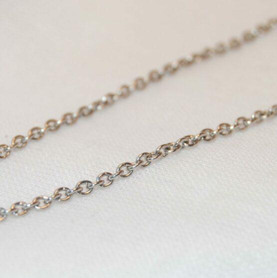 Orvosi fém nyaklánc (1,8mm) Többféle hosszúságban