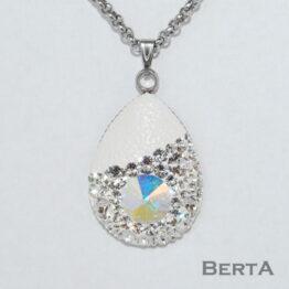 Drop Medál Swarovski ® kristályokkal