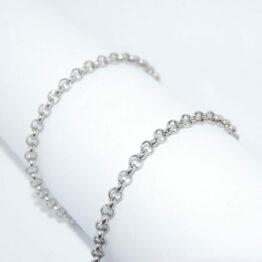 Nemesacél Rolo nyaklánc (3mm) Többféle hosszúságban