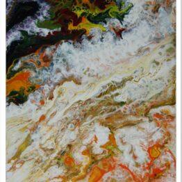 Modern akril festmény: Egy sziget születése