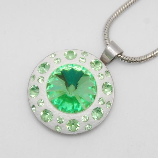 Zöldike Medál Swarovski ® kristályokkal