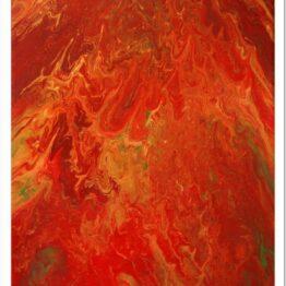 Lángok modern akril festmény