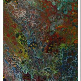 Páva lárma modern akril festmény