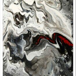 Vadászat télen modern akril festmény