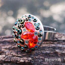 Bronzee nemesacél gyűrű