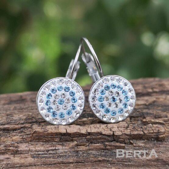 Loop nemesacél francia kapcsos fülbevaló Swarovski kristályokkal