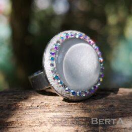 Chloe nemesacél gyűrű Swarovski kristályokkal